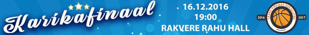 Lääne-Virumaa Kossuliiga karikafinaal 16.12.2016 Rakvere Rahu Hall